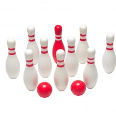 Red & White Wooden Bowling